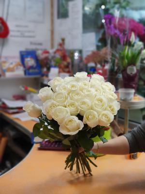 Роза эквадор белая - 21 роза